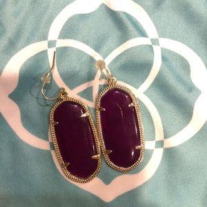 Kendra Scott Elle earrings in purple jade